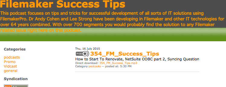Filemaker Success Tips 354