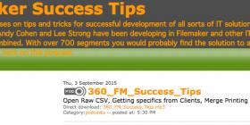Filemaker Success Tips 360