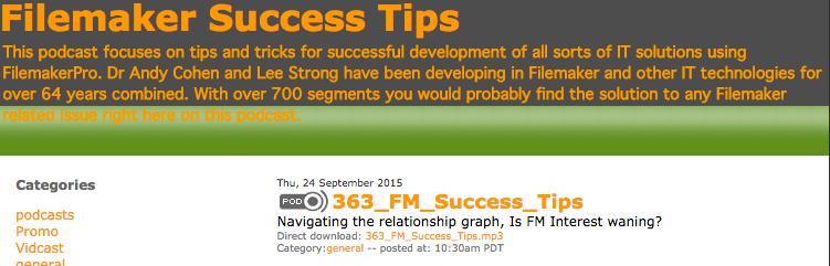 Filemaker Success Tips 363