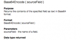 FileMaker data to text file using Base64