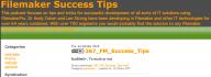 Filemaker Success Tips 367