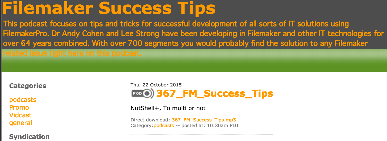Filemaker Success Tips 367