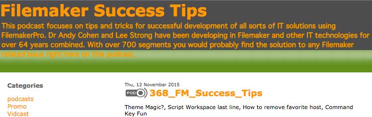 Filemaker Success Tips 368
