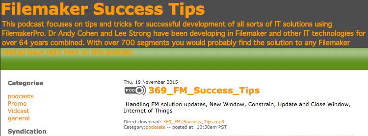 Filemaker Success Tips 369