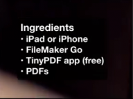 Free PDF Markup in FileMaker Go 14 using TinyPDF – YouTube
