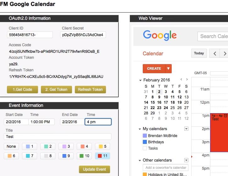 FileMaker Google Calendar Integration | DB Services