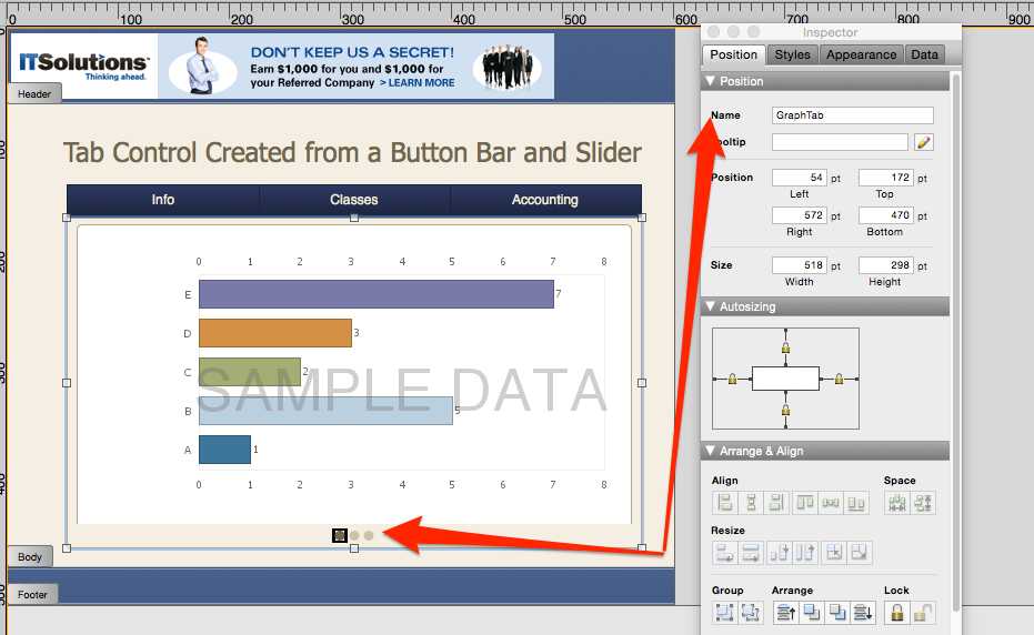 Dynamic Tab Panel Example