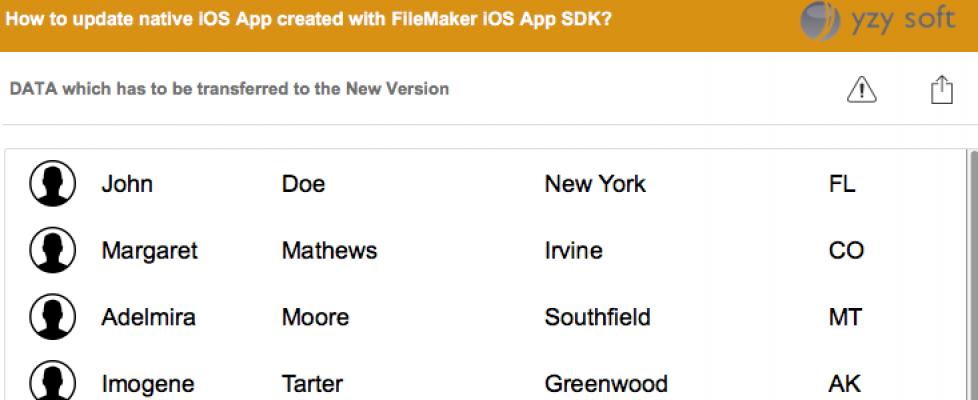 Updating a FileMaker iOS App