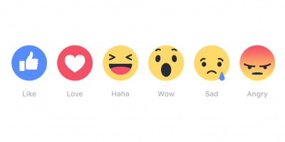 New Facebook Reaction icons
