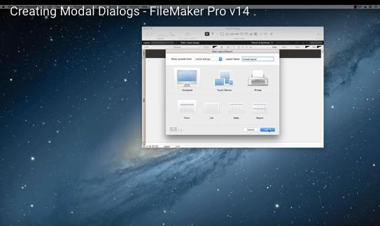 FileMaker Modal Dialogs