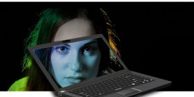 woman in monitor