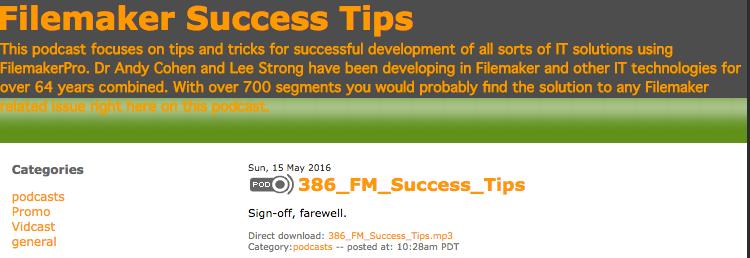 Filemaker Success Tips 386