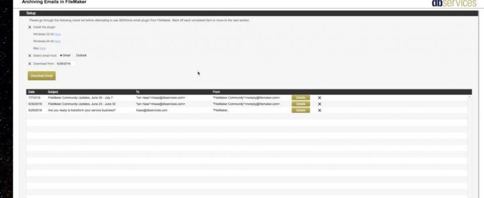 Emails in FileMaker