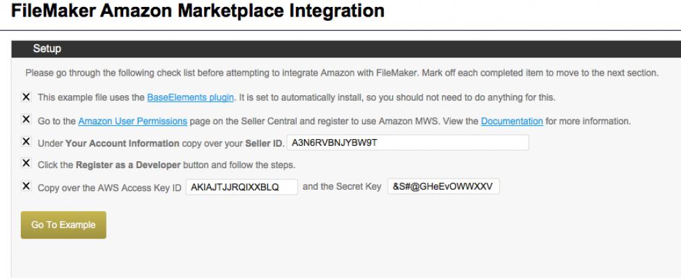 FileMaker to Amazon Database Example
