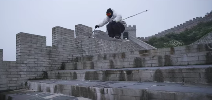 Skiing the Great Wall of China