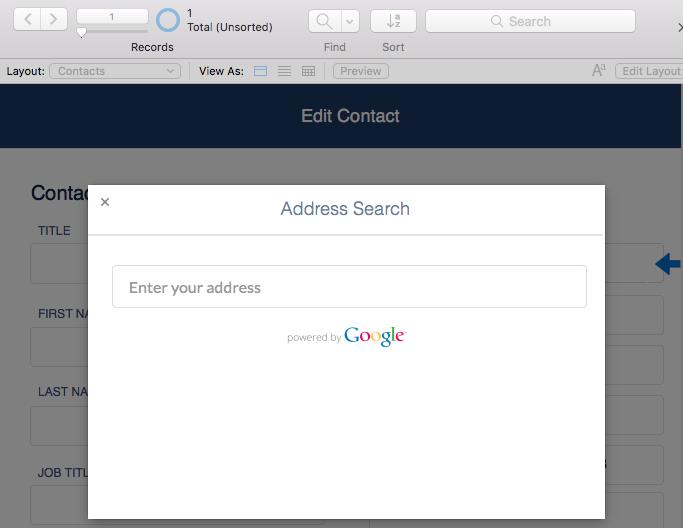 Address Lookup example