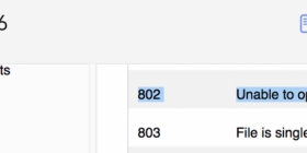 FileMaker 16 error code 802