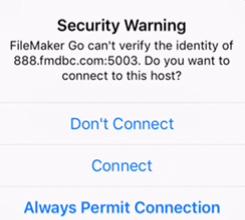 Security Warning