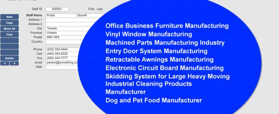 Custom FileMaker Manufacturing Database Picture
