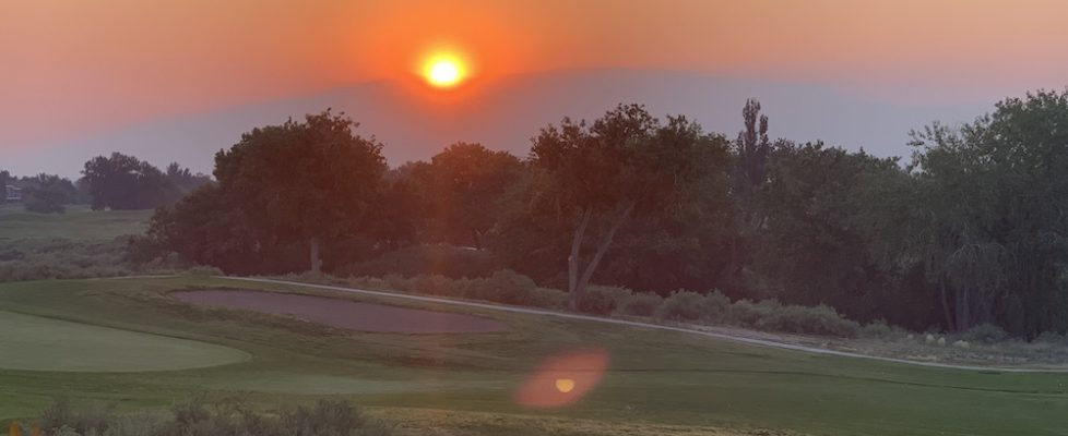 Arizona Fires lead to beautiful New Mexico Sunrises...but don't exercise outside!