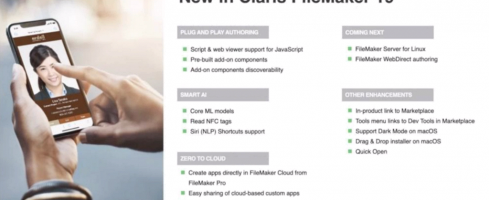 Whats new in FileMaker Pro 19
